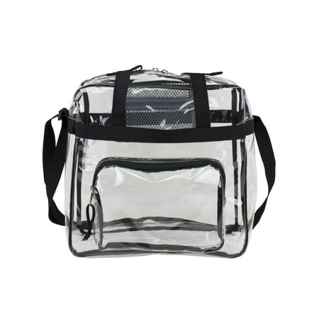 Flap Tote Handbag - Clear Stadium Approved Tote