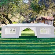 Screen Gazebo Tent, 10' x 30' Patio Gazebos Tent with 8 SideWall, 2021 Upgraded Outdoor Party Wedding Tent for Outside, Waterproof Backyard Tent BBQ Shelter for Catering Garden Beach Camping, L3518