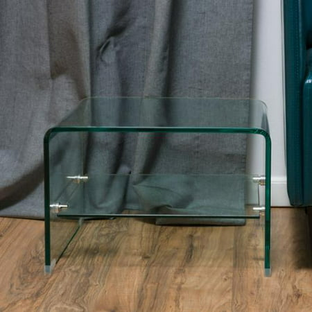 Reece Clear 12mm Tempered Glass End Table