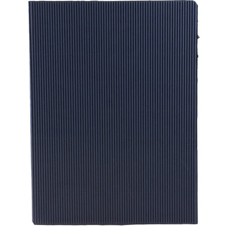 JAM Paper Corrugated Fluted Folders - Navy - pack of 6 folders