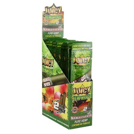 25PK DISPLAY - Juicy Hemp Wraps - 2pc - Mango Papaya