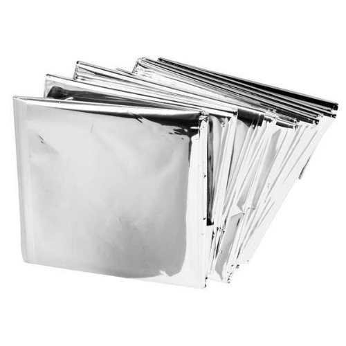 "Emergency Mylar Blankets - 84"" x 52"" (6 Pack), 6 Pack. Individually Folded and Sealed: 4 x 3. Opens to: 84 x 52 (each) By Durable Blankets"