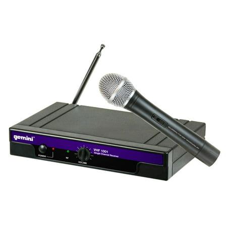 GEMINI VHF-1001M DJ Karaoke Wireless Unidirectional Handheld Microphone System