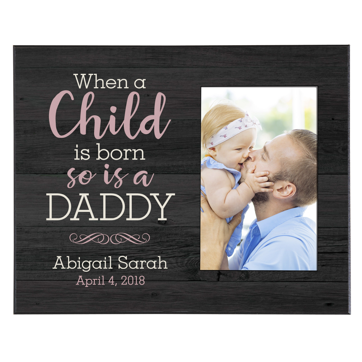 Personalized When A Child Is Born Frame - Available in 3 Colors