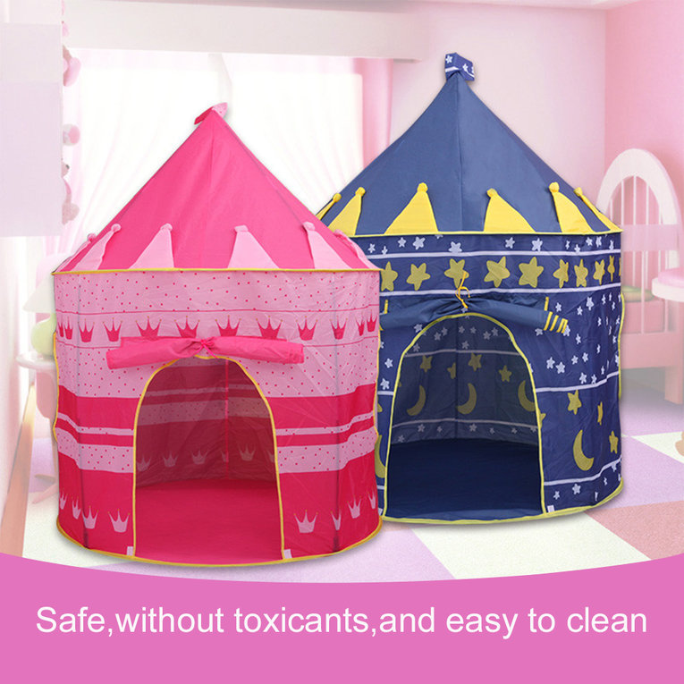 Toy Tents Folding Play House Tent Child Kids Portable Play Castle Toys Games Great Gift