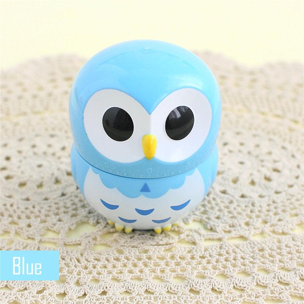 Lovely Blue Kitchen Timer Mechanical Owl Alarm