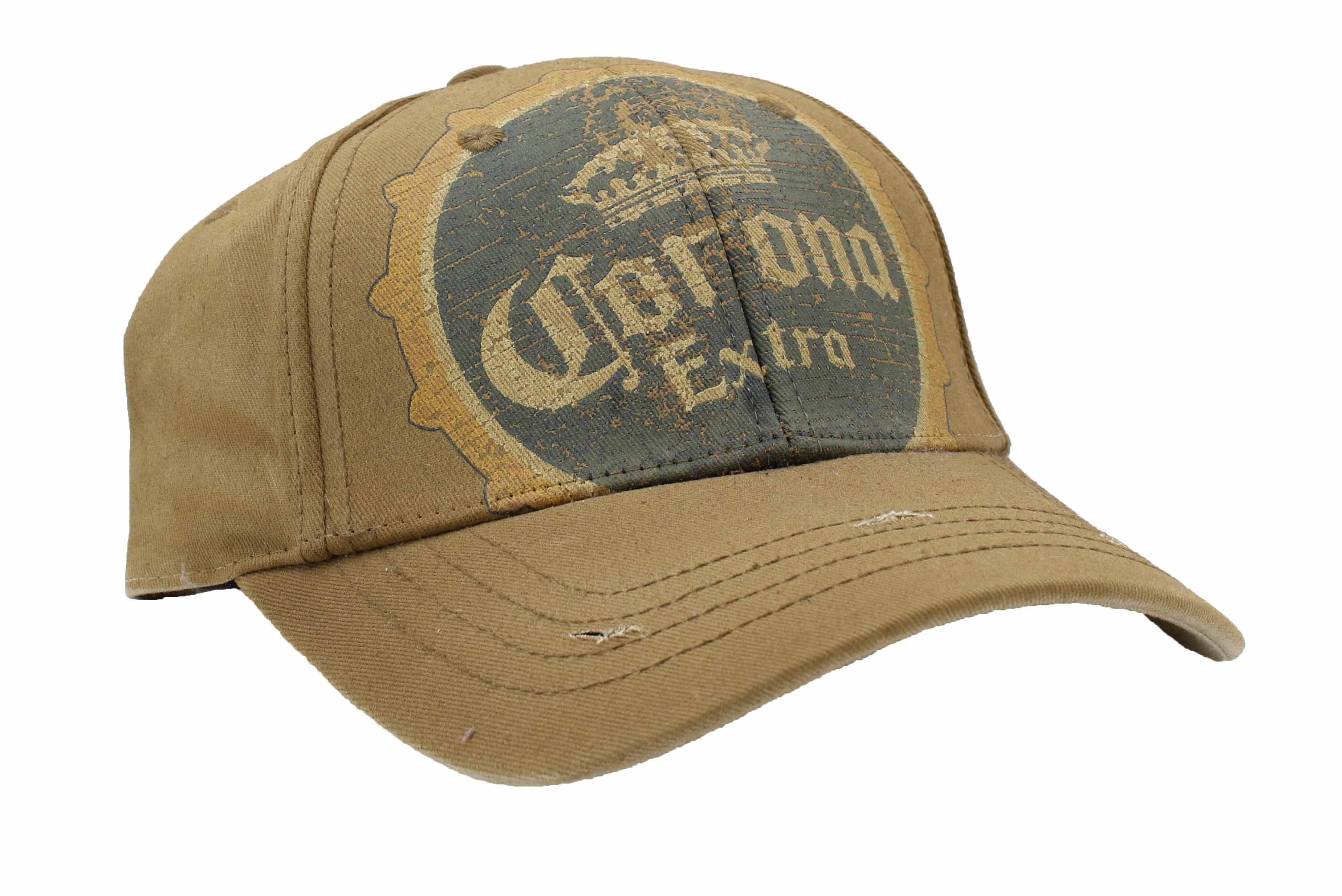 b45212ffbed Corona - Corona Extra Mens Adjustable Strapback Baseball Cap (Brown Vintage)  - Walmart.com