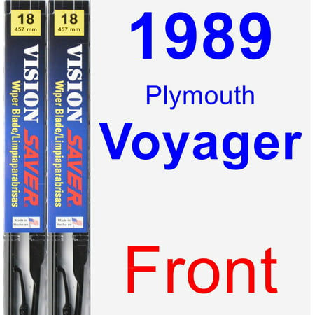 1989 Plymouth Voyager Wiper Blade Set/Kit (Front) (2 Blades) - Vision Saver