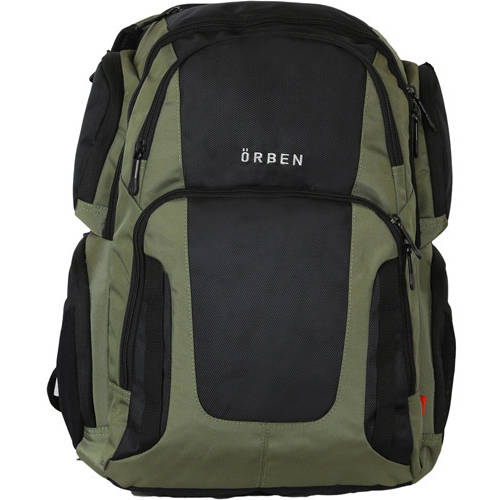 "ORBEN 20"" Cargo Laptop Backpack Unisex School Business Travel Bag Fits 15"" Laptop on separate zipper compartment Olive Green"