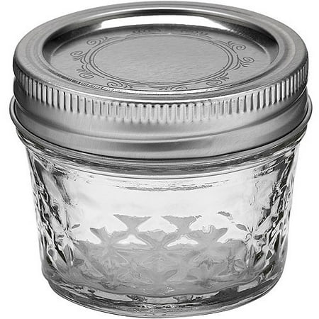 ball quilted crystal jelly jar w lid band 4 ounces 12 count. Black Bedroom Furniture Sets. Home Design Ideas
