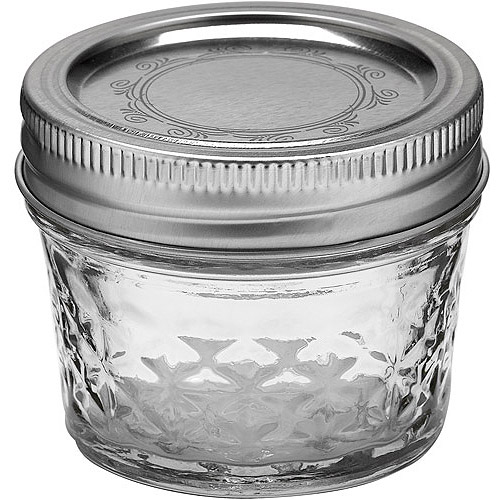 Ball Quilted Crystal Jelly Jar w/Lid & Band, 4 Ounces, 12 Count