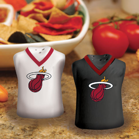Miami Heat Ceramic Jersey Salt and Pepper Shakers