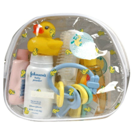 Johnson And Johnson Baby Travel Bath Bag Kit - 10 Pieces