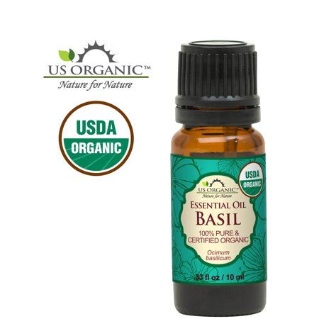 100% Pure Certified USDA Organic - Basil Essential