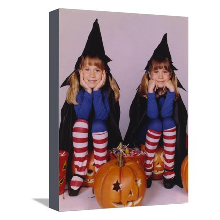 Full House Halloween Theme Portrait Stretched Canvas Print Wall Art By Movie Star News](Halloween Themed Art)