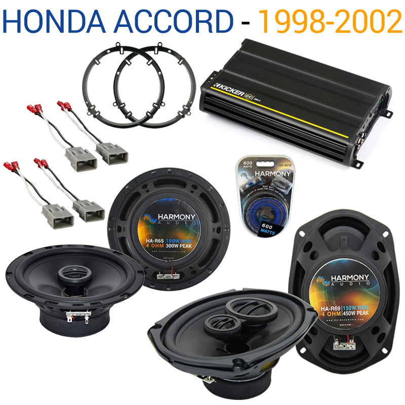 Honda Accord 1998-2002 OEM Speaker Replacement Harmony R65 R69 & CX300.4 Amp - Factory Certified Refurbished