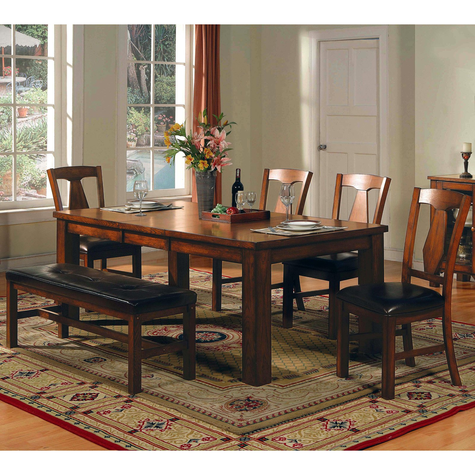 Steve Silver Lakewood 6 Piece Dining Table Set   Walmart.com