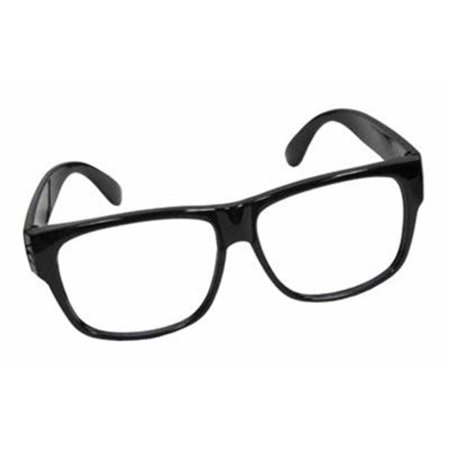 BLACK FRAMED GLASSES WITH NO LENSES