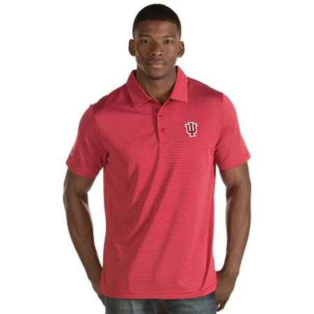 Indiana Hoosiers Antigua Quest Stripe Jersey Polo - Crimson ()