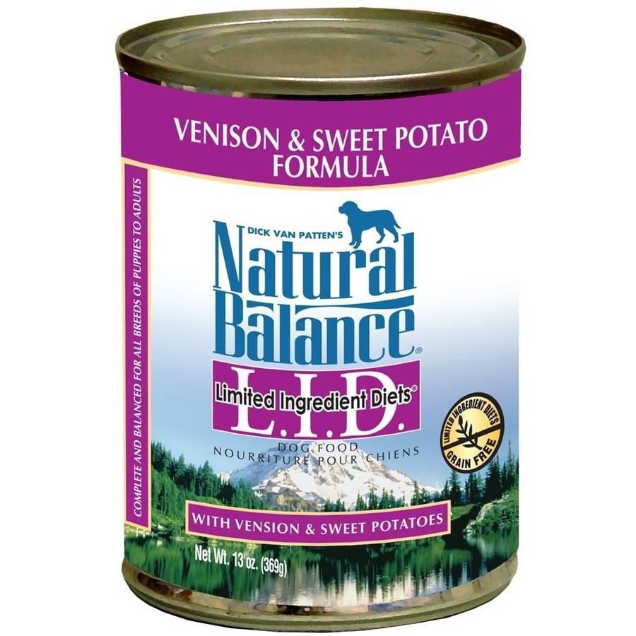 Natural Balance Limited Ingredient Diets, Venison & Sweet Potato, 13 oz Can