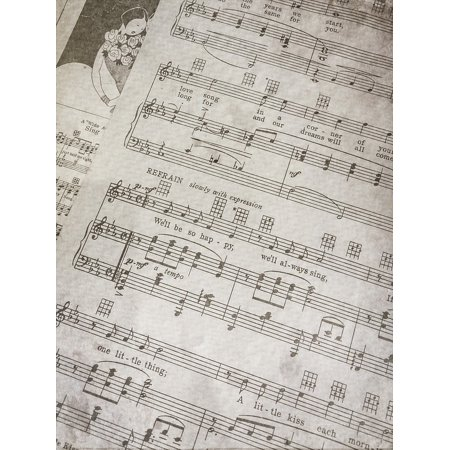 LAMINATED POSTER Antique Sheet Music Notes Vintage Music Paper Poster Print 24 x 36 (Antique Vintage Sheet Music)