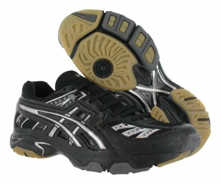 ASICS Women's GEL Volley Lyte Volleyball Shoe, BlackSilver, 7 B(M) US