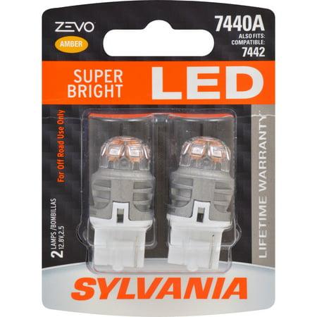Baby Bullet Amber Led - 2-PK SYLVANIA ZEVO 7440 T20 992 Amber LED Automotive Bulb