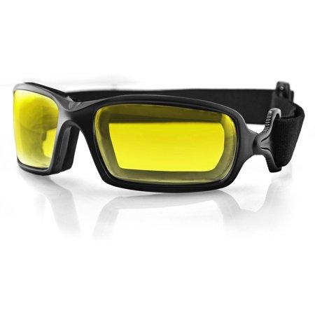 Bobster Fuel Biker Goggle, Anti-Fog Yellow Photochromic Lens