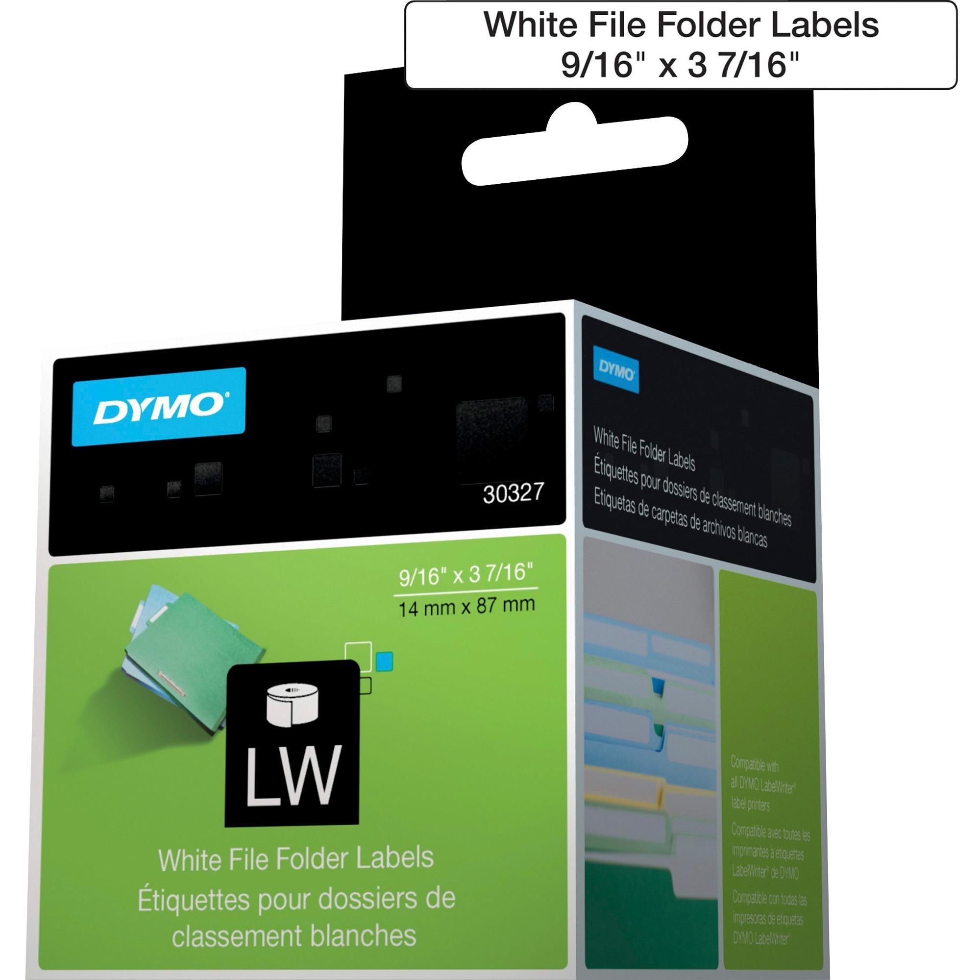 Dymo, DYM30327, LabelWriter File Folder Labels, 260 / Box, White