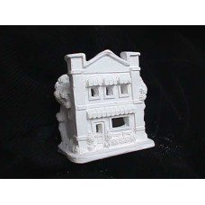 Painted Village - Plastercraft unpainted holiday village house use acrylic paints 4 awning house 4