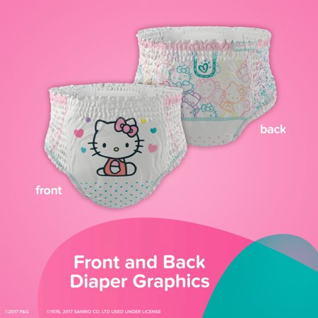 Best Pampers Easy Ups Hello Kitty Training Underwear Size 4T–5T, 18 Count Pack deal