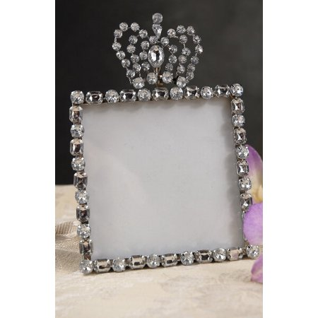 Diamond Crown Top 4x4 Rhinestone Frame, Table Number Frames ...