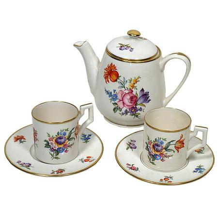 - Framed Art For Your Wall Drink Tea Teapot Set Saucer Tea Set Cup 10x13 Frame