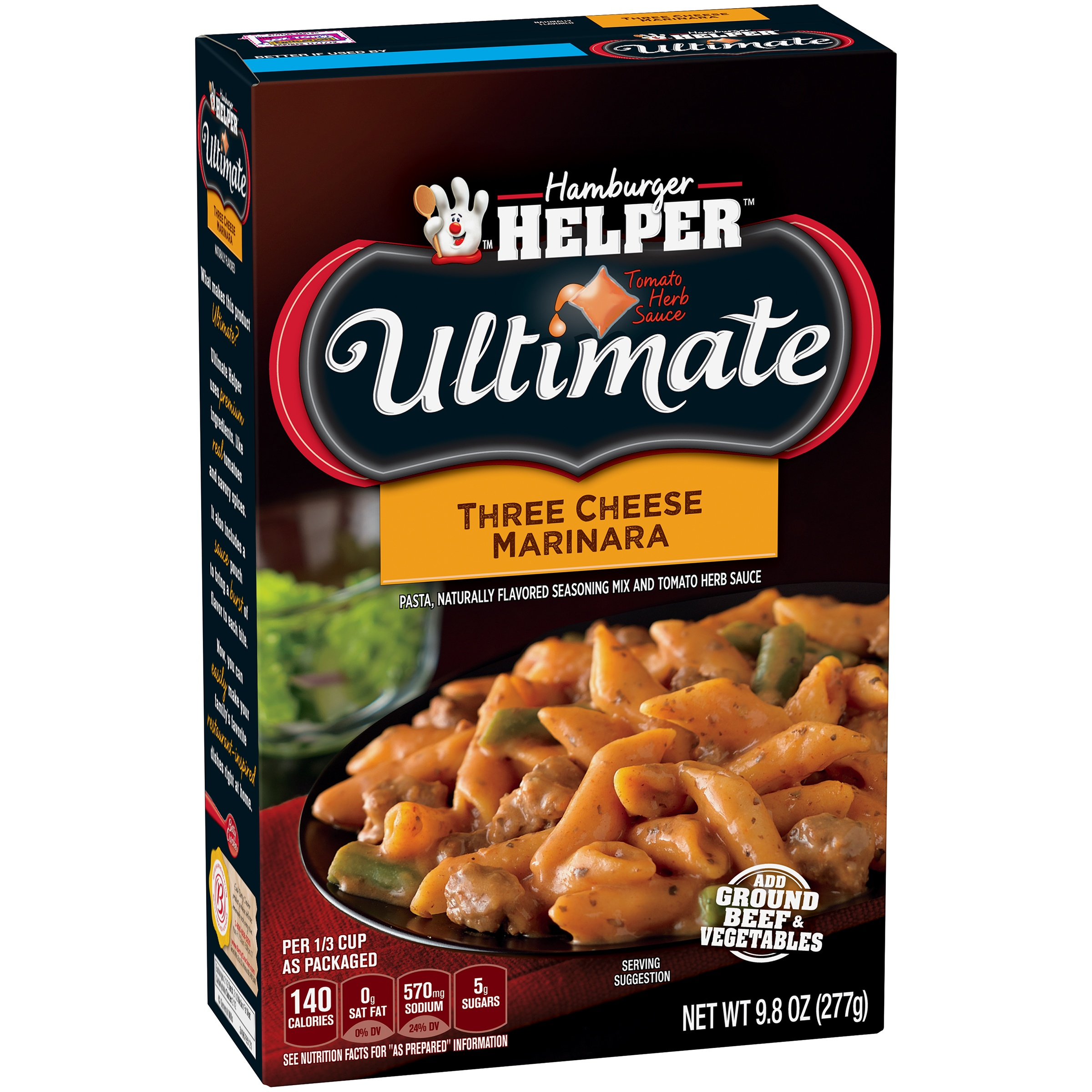Betty Crocker Ultimate Three Cheese Marinara 9.8 oz Box