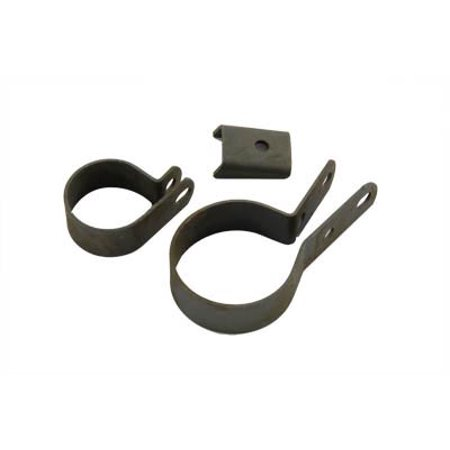 Exhaust Clamp Kit Parkerized,for Harley Davidson,by V-Twin