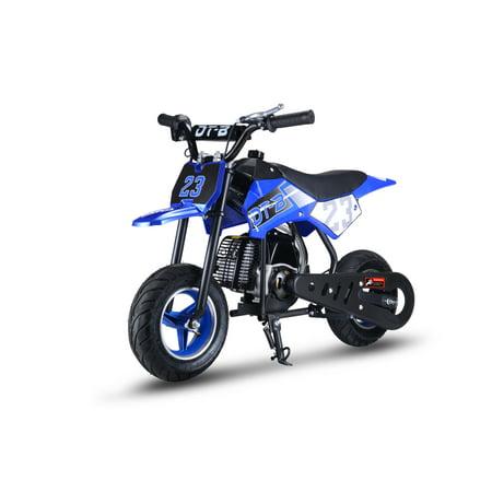 51CC 2-Stroke Kids Dirt Off Road Gas Power Mini Dirt Bike, Blue