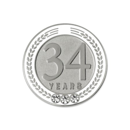 Recognition Gifts (PinMart's 34 Years of Service Award Employee Recognition Gift Lapel Pin -)