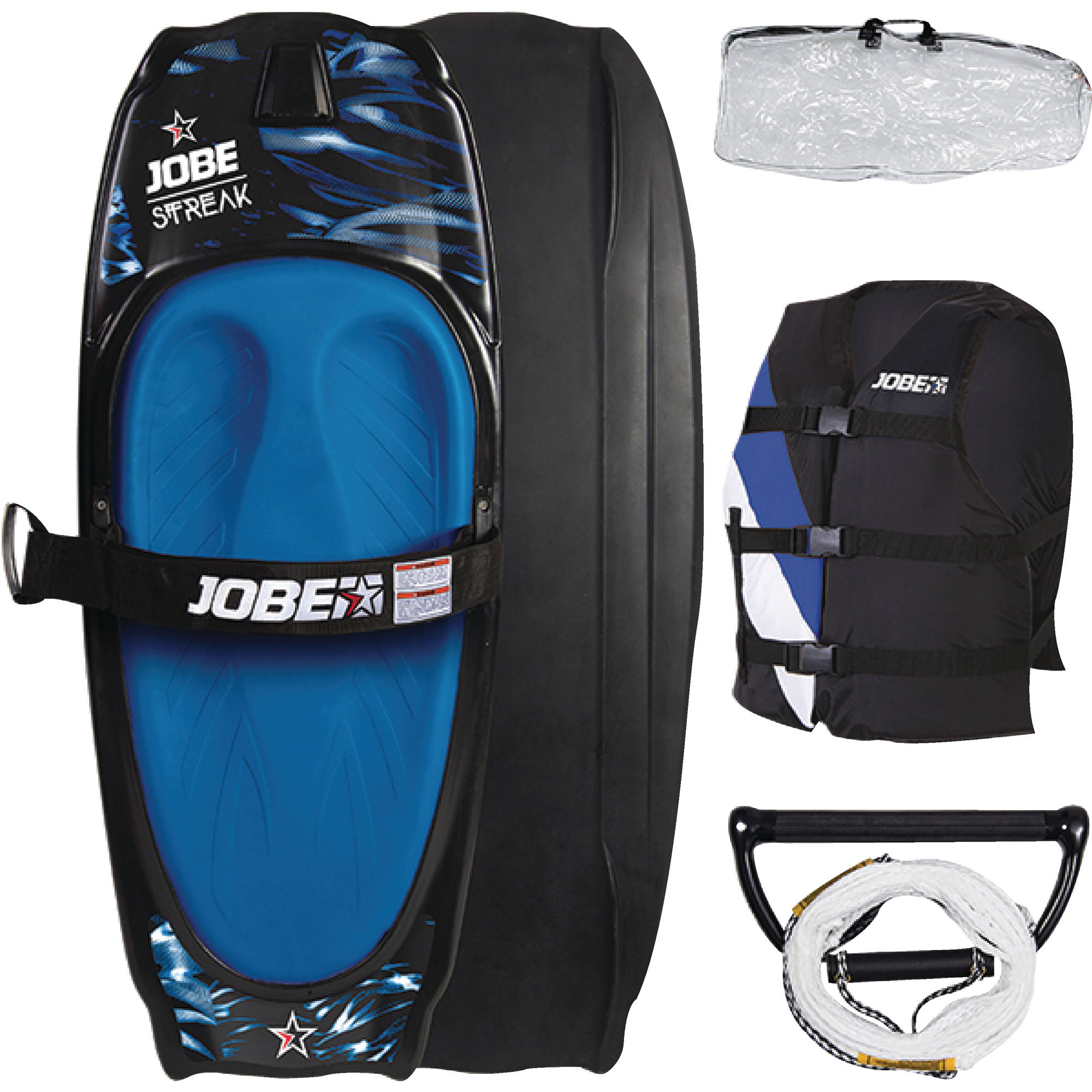 Jobe 258816002 Streaker Kneeboard Package / Includes Vest, Rope, Handle & Bag