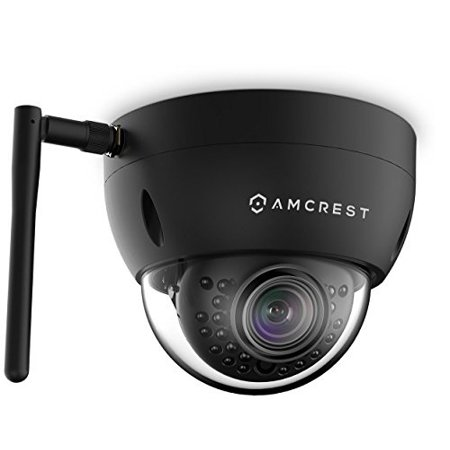 Amcrest ProHD Fixed Outdoor 1.3 Megapixel Wi-Fi Vandal Dome IP Security Camera - IP67 Weatherproof, IK10 Vandal-Proof, 1.3MP 12