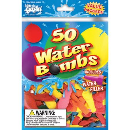Gayla Water Balloon Water Bomb with Filler (50) GAL40581](Balloon Bombs)