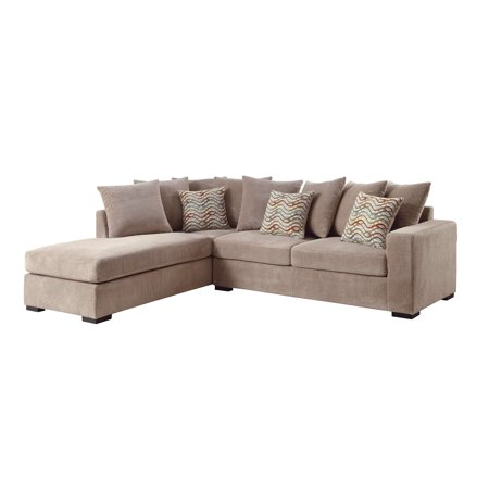 Brilliant Simple Relax Olson Sectional Sofa Reversible Chaise Storage Ottoman Taupe Upholstered Cushion Onthecornerstone Fun Painted Chair Ideas Images Onthecornerstoneorg