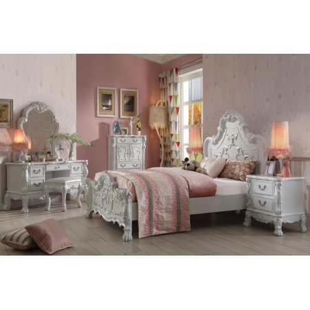 Acme Furniture 30660Q Dresden Antique Kids White Panel Queen ...
