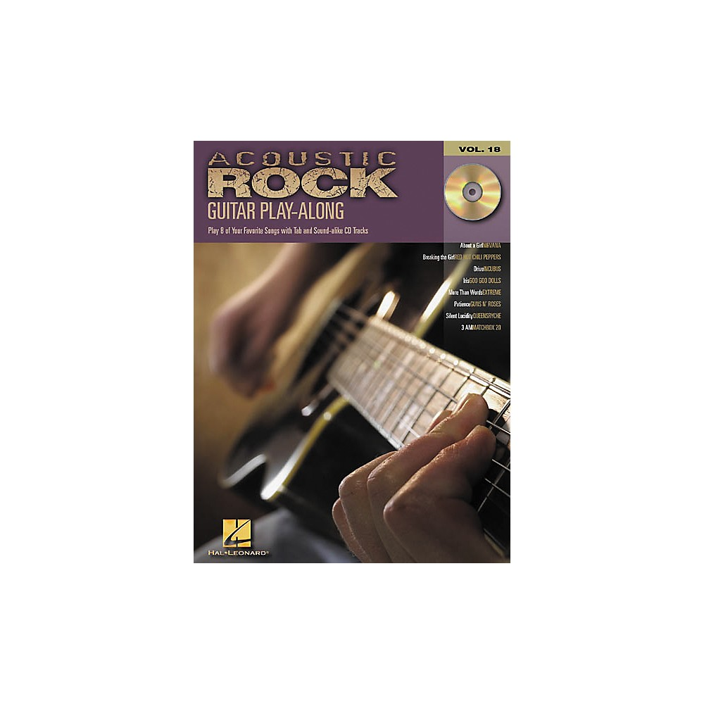 Hal Leonard Acoustic Rock Guitar Play-Along Series Book with CD