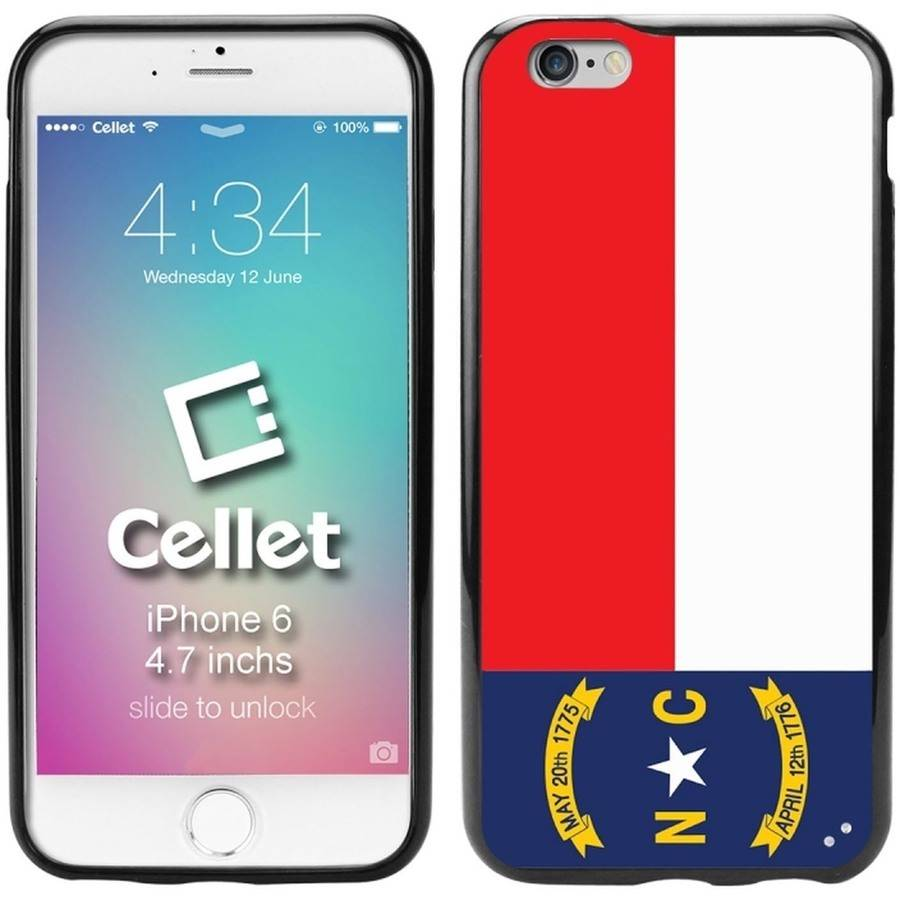 Cellet TPU/PC Proguard Case with North Carolina Flag for Apple iPhone 6