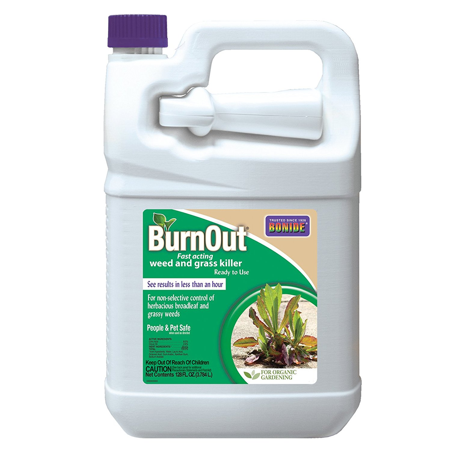 Products 7492 Burnout, Ready To Use, All Natural Weed & Grass Killer, Very fast acting By Bonide,USA