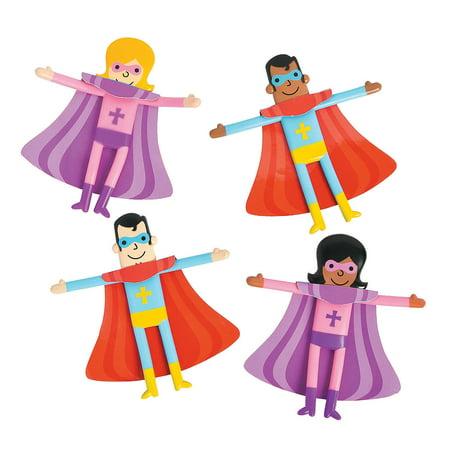 Fun Express - Religious Superhero Bendable - Toys - Character Toys - Bendables - 24 - Superhero Characters
