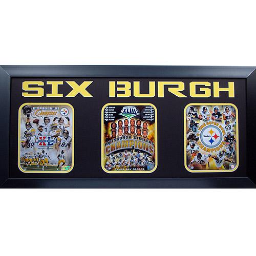 NFL Pittsburgh Steelers Greats 3-Photo Frame, 15x35