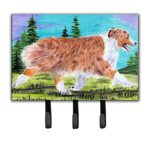 Caroline's Treasures Australian Shepherd Leash Holder and Key Hook