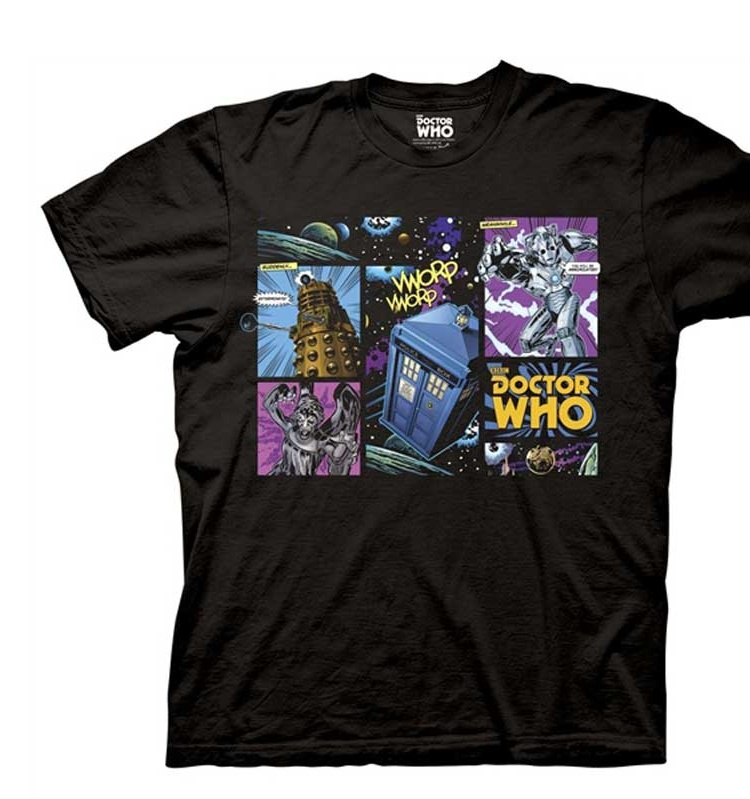 Doctor Who Comic Villains Men's Black T-Shirt
