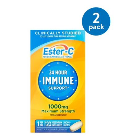 (2 Pack) Ester-C Vitamin C 1000 mg Vitamin Supplement 120